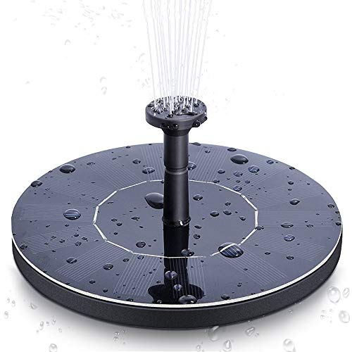 opamoo Solar Fountain Pump 1.4W Free Standing Bird Bath Solar Water Pump Solar Powered Water Fountain Panel Kit Watering Submersible Pump Outdoor Solar Fountain for Pond, Pool, Patio and Garden