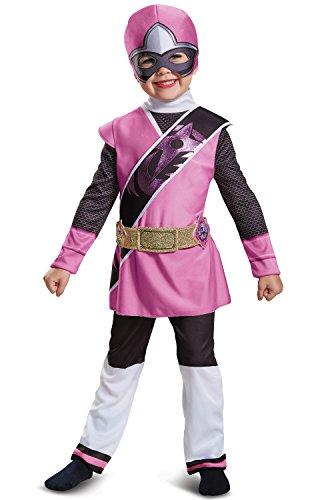 Power Rangers Ninja Steel Deluxe Toddler Costume, Pink, Large (4-6X) ()