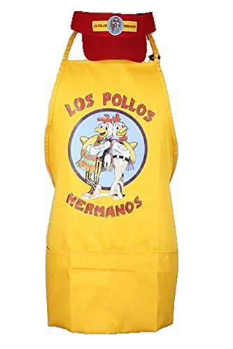 Pollos Hermanos Costume (LOS Pollos Hermanos Apron Cap Set Moth Heisenberg Breaking Bad)