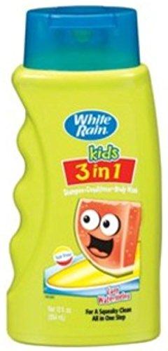 White Rain Kids 3in1 Zany Watermelon Shampoo, Conditioner and Body Wash 12 oz (Pack of 6) by White Rain