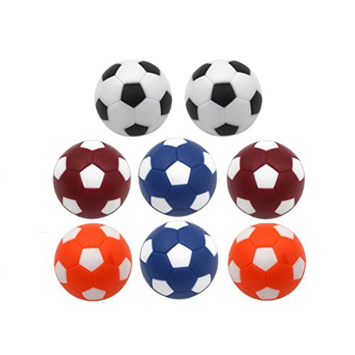 8pcs DLOnline Mini colorful Table Soccer Foosballs (brown,orange,blue and white) by DLOnline