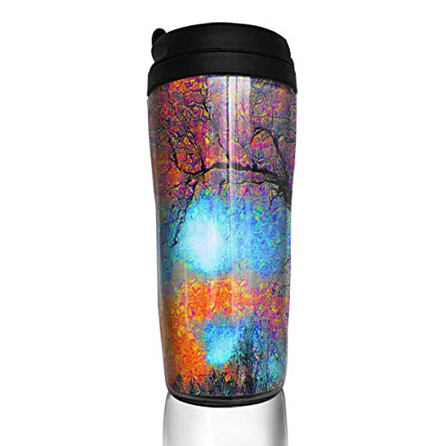 Coffee Mug Modern Abstract Tree Travel Tumbler Insulated Leak Proof Drink Containers Holder Inspiring 12 Ounces