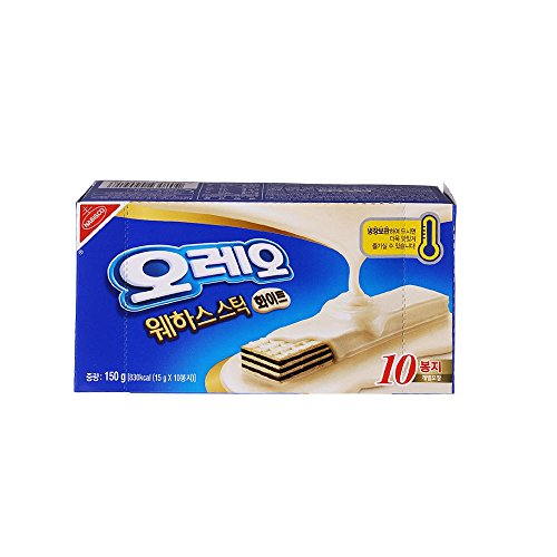 Nabisco, Handi Snacks, Oreo Wafer Sticks White 5.3 Oz Box (10pcs) - Ship form South Korea