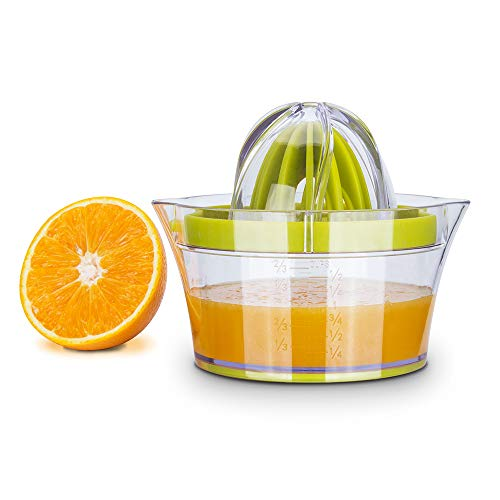 Citrus Juicer Lemon Orange Juicer Manual Hand Squeezer With Built-In Measuring Cup And Grater ()