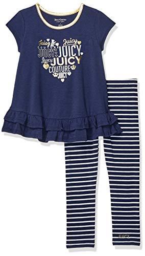 Fifties Dress Up Ideas (Juicy Couture Girls' Toddler 2 Pieces Legging Set, Navy,)