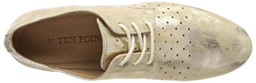 Brogue Mujer 613 Zapatos Para Cordones De New Points Toulouse Dorado Ten gold wZTfw