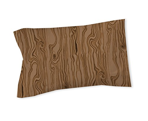 Manual Woodworkers & Weavers Pillow Sham, King, Wood Grain Large Scale Light Brown (Large Scale Wood)