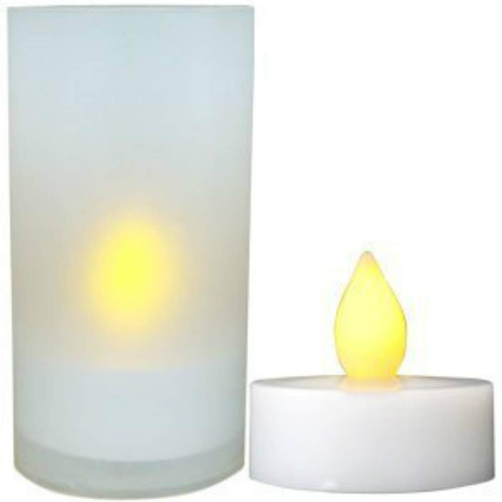 Light Hotel Rooms Bathrooms and Bedrooms Without any Fire Hazard Green Daffodil Flameless LED Tea Light Candles LEC008
