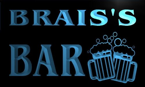 w066905-b BRAIS'S Name Home Bar Pub Beer Mugs Cheers Neon Light Sign