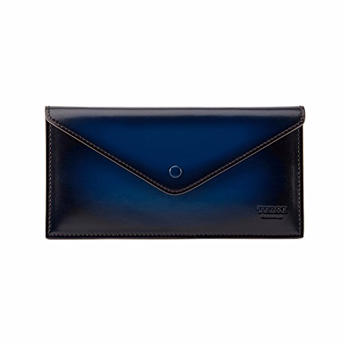 TERSE Men's Clutch Wallet Genuine Leather Card Holder Messenger Bags (Blue) by TERSE