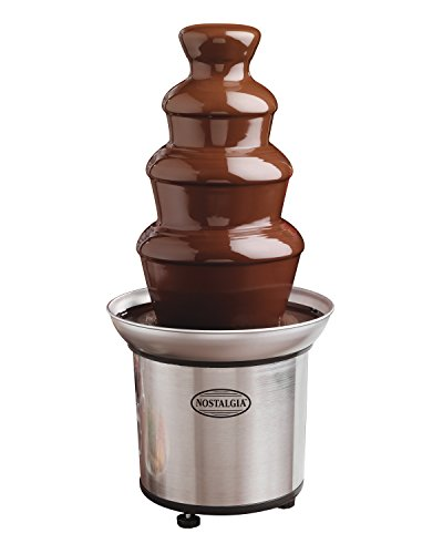 082677139863 - Nostalgia CFF986 4-Tier 2-Pound Capacity Stainless Steel Chocolate Fondue Fountain carousel main 0