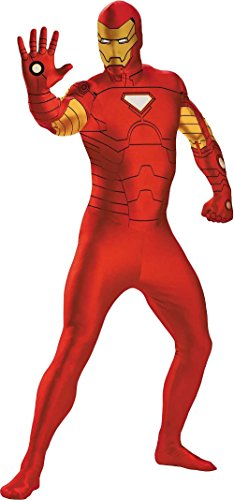 (Disguise Men's Marvel Iron Man Bodysuit Costume, Gold/Red,)