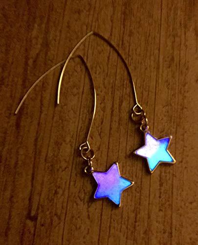 (Glow In The Dark Galaxy Nebula Glitter Star Drop Dangle)