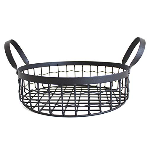 HUIHUAN Fruit Basket Nordic Simple Home Wrought Iron Storage Basket Office Supplies Desktop Storage Basket Snacks Debris Bread Basket Storage Basket