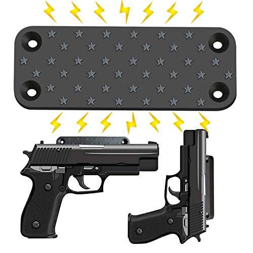 Gun Magnet 1-Pack | Rubberized 40 lbs Rated Magnetic Gun Magnet | Gun Magnet Mount-Concealed Gun Holder for Wall, Desk, Truck, Car, Handgun, Pistol, Rifle, Shotgun, Revolver