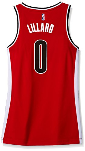 NBA Portland Trail Blazers Damian Lillard #0 Women's Alternate Road Replica Jersey, Medium, Red