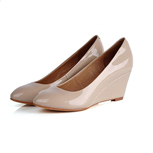 H H Cuatro Estaciones Hacen Pendientes En Cuero Femenino Con Zapatos Redondos (negro, Rosa) Zapatos Ol De Goma Antideslizantes Ol, Negro, 37