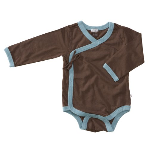 Baby Soy All-Natural Kimono Bodysuit, Chocolate, 0-3 Months