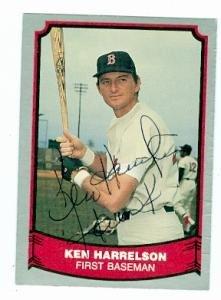 Ken Harrelson autographed Baseball Card (Hawk Boston Red Sox OF) 1988 Pacific Legends #14 Ball Point Pen ()