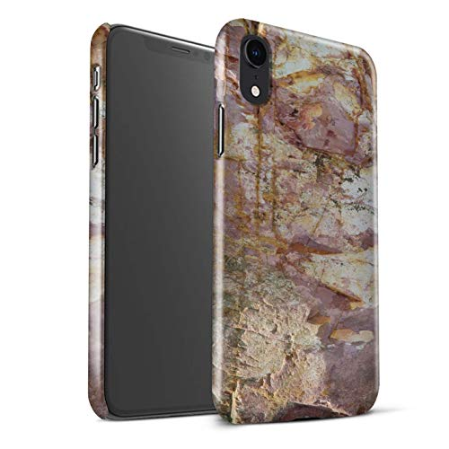 ck Snap-On Phone Case for Apple iPhone XR/Eroded Design/Stone/Rock Collection ()