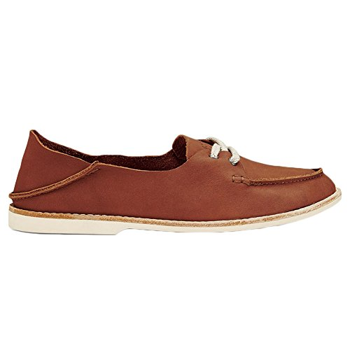 OluKai Women's Moku Leather Fog/Fog Loafer 7 B (M)