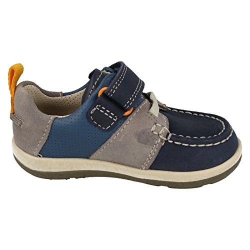 ClarksSoftlyboat Fst - Sandalias con cuña para chico, color azul, talla 36,5 EU