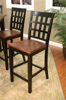 Charmant AHB Mia Square Block Back Counter Height Dining Chairs   Set Of 2