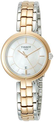 Tissot Flamingo Quartz Mother of Pearl Dial Two-Tone Ladies Watch T0942102211100
