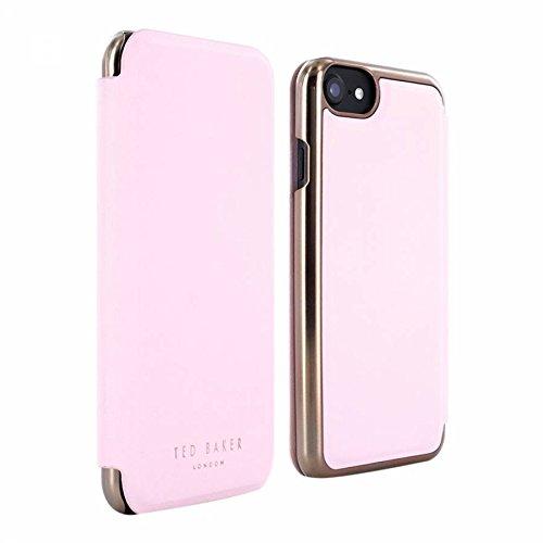 Ted Baker Shannon Folio Case mit Spiegel für iPhone 7–Pink