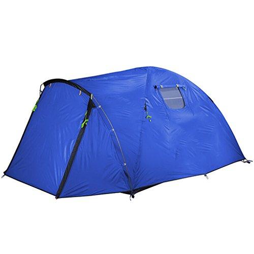 不良品コールドペンテントキャンプテント3-4人々ホームバージョンスリーシーズンキャンプダブル風と雨嵐 (色 : オレンジ)