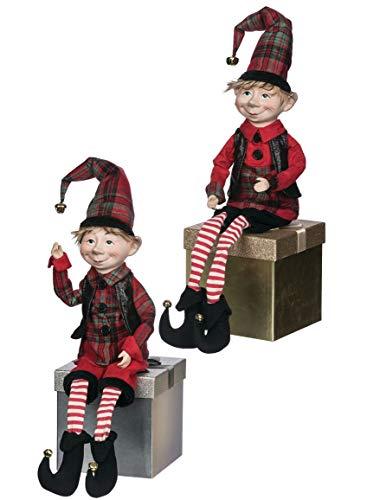 Sullivans Christmas Elf Figurines, Whimsical Adjustable Elves, 27