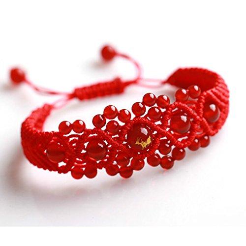 Zodiac Sheep - Original Chinese Ancient Style Red String Agate Bracelet ,Handmade Chinese zodiac charm bracelet Sheep FP5001203