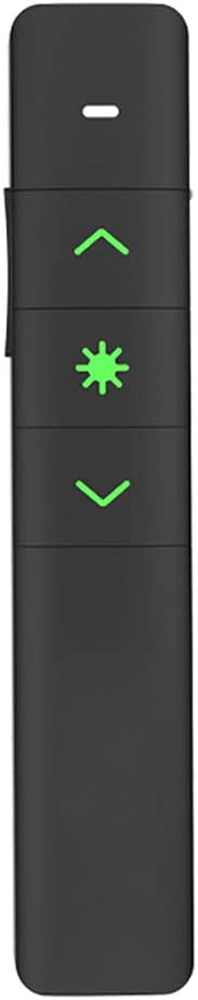 ZYLFN Presentador inalámbrico, Presentación Profesional de 2.4 GHz Recargable a Distancia, Compatibilidad Universal, Teclas táctiles intuitivas para Control de presentaciones con Puntero Rojo