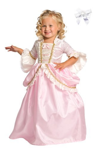 Little Adventure 11132 Pink Parisian Princess Dress Costume Age 3-5 + Hair Bow
