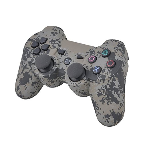 YRK Wireless Bluetooth Six Axis Dualshock Game Controller for Sony PS3 Camouflage
