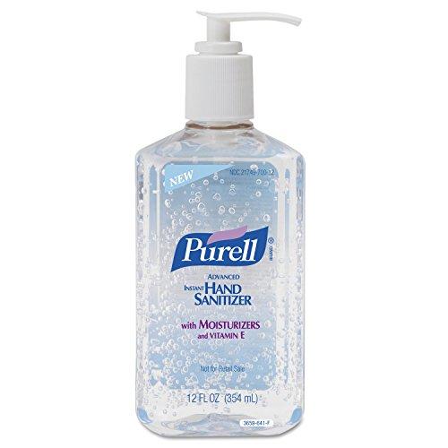 12 Ounce Bottle Case (PURELL 365912CT Advanced Instant Hand Sanitizer, 12oz Pump Bottle (Case of 12))