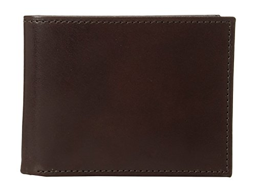 Wallet Compact Murphy (Johnston & Murphy Men's Slimfold Wallet Brown Smooth Leather One Size)