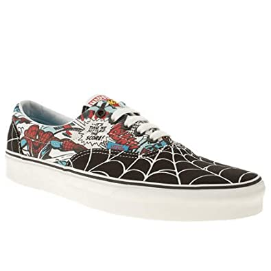 fe89f3281d5 Vans Era Marvel Spiderman - 10 Uk - Black And Blue - Fabric  Amazon ...