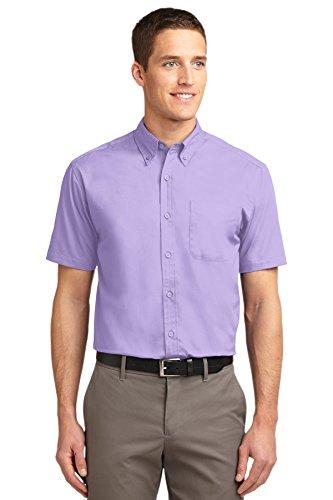 Port Authority Mens Tall Short Sleeve Easy Care Shirt (TLS508) -Bright Lav -3XLT (Port Lav)