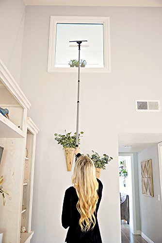 High Reach Evriholder Telescoping 10-Foot Extension Pole, Fan Duster, 10pc Cleaning Kit for High Ceilings, Windows, Walls and Furniture by High Reach (Image #5)