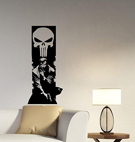 Punisher Vinyl Decal Wall Sticker Marvel Comics Art Superhero Decorations for Home Kids Boys Room Bedroom Office Movie Decor pur5