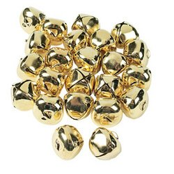 GORGEOUS GOLD JUMBO JINGLE BELLS (144 PIECES) - BULK by OTC