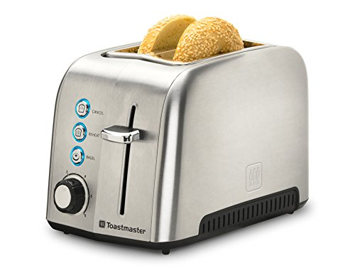 2 Slice Toaster, Stainless Steel (Toastmaster Appliances)