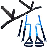 Ultimate Body Press Joist Mount Pull Up bar + Body Weight Resistance Trainer