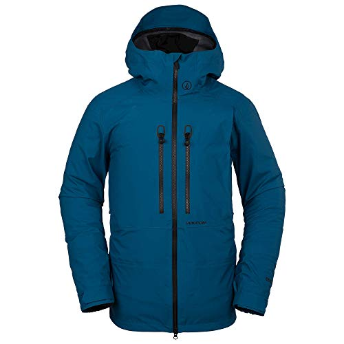 Volcom Men's Guide Gore-Tex Flannel Back Snow Jacket, Blue, Extra Large