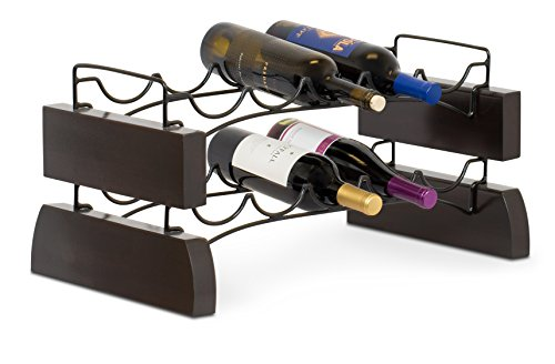 Cheap BirdRock Home Stackable Wine Rack | Wine Stand | 2 Metal Wave Bars | Set of 2 | 10 Bottle | Espresso