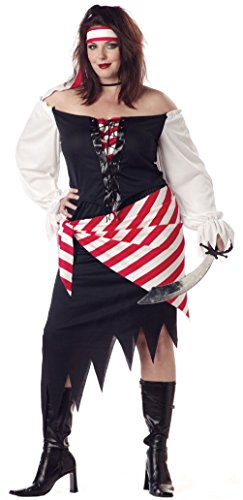The Pirate Beauty California Halloween Costume Adult Plus Size Womens Cute - Diner Doll Costumes For Women