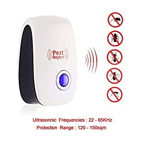 LovelyHomeShop [2018 Upgraded] 6 Packs Ultrasonic Pest Repeller, Electronic Plug-In Ultrasonic Pest Control, Best Pest Repellent for Cockroach, Rodents, Flies, Roaches, Ants, Mice,Spiders, Fleas