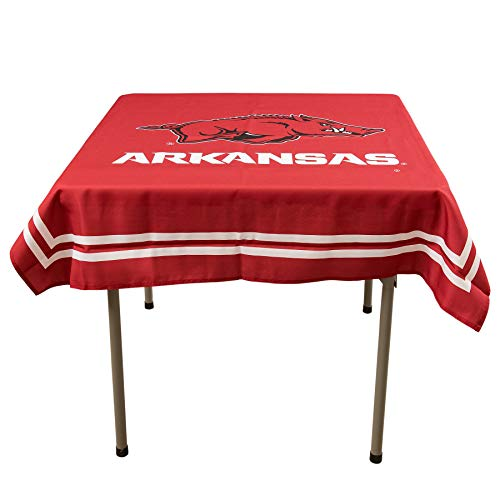- College Flags and Banners Co. Arkansas Razorbacks Logo Tablecloth or Table Overlay