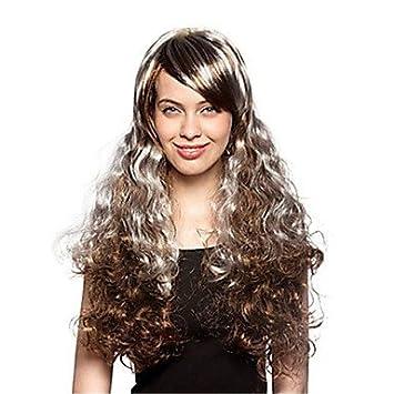 OOFAY JF® estilo caliente syntheic extensiones pelucas de color mezcla de cosplay explosión de pelucas